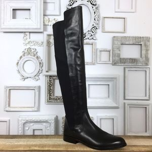 e1efeaa4ca9 Clarks Bizzy Girl Over the Knee Leather Flat Boots